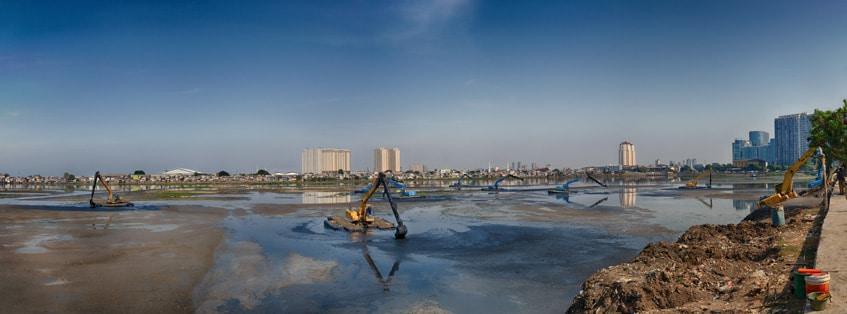 Harbour slum area