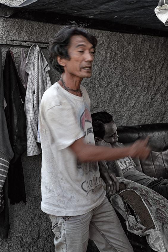 speaking man