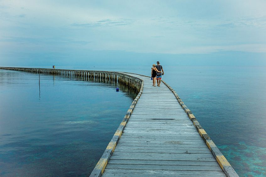 Couple on the jetty