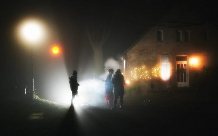 light shadow and mist at night jpg