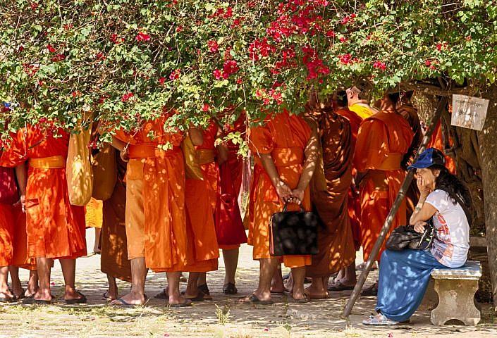 monks on journey
