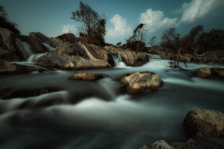 Mekong falls long exposure